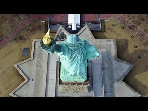 Statue of Liberty via Drone