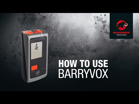 Mammut Barryvox - How to use it
