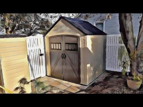 How to lay a foundation base for a backyard storage shed - Rubbermaid Roughneck