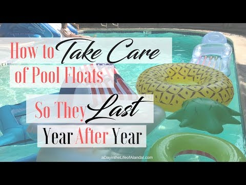 How to Take Care of Pool Floats