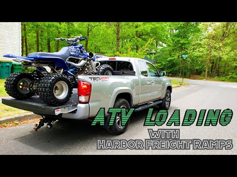 How to PROPERLY load an ATV using Harbor Freight ramps