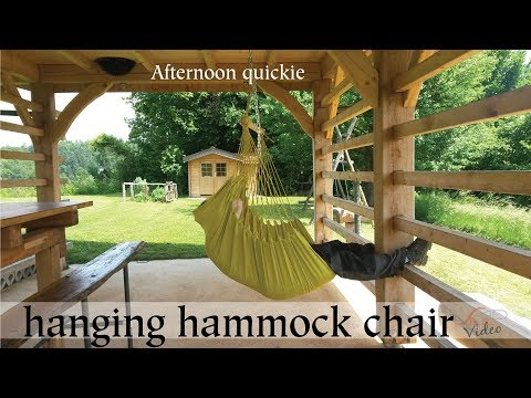 Afternoon quickie: hanging hammock chair
