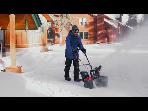 Meet the PowerSmart DB2401 Lithium-ion Cordless 18-inch Snow Blower