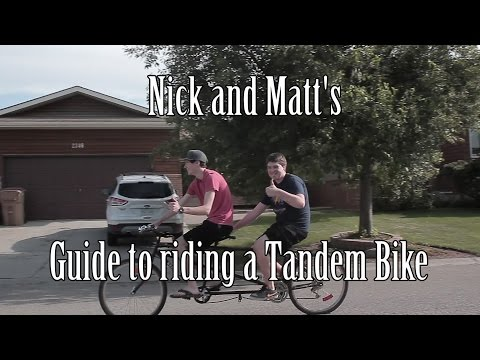 How To Ride a Tandem Bike