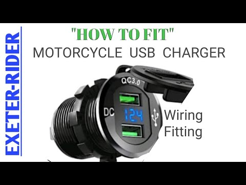"""""""HOW TO"""" FIT A USB CHARGE OUTLET TO ANY MOTORCYCLE 