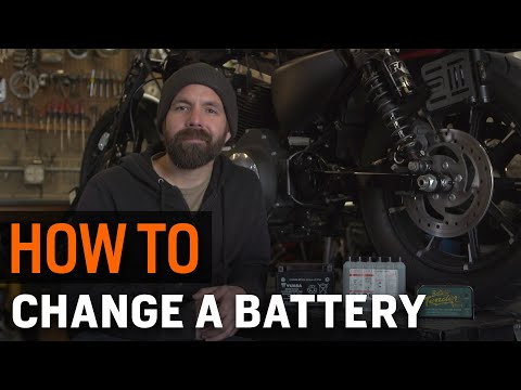 How to Change a Motorcycle Battery