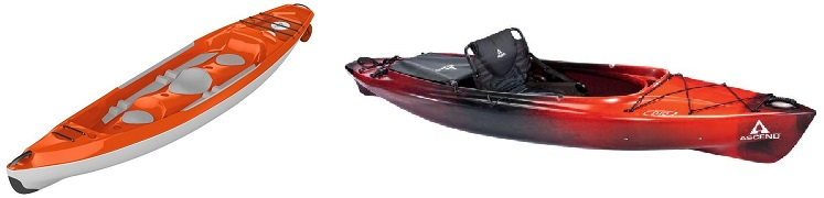 Sit in kayak vs sit on top kayak