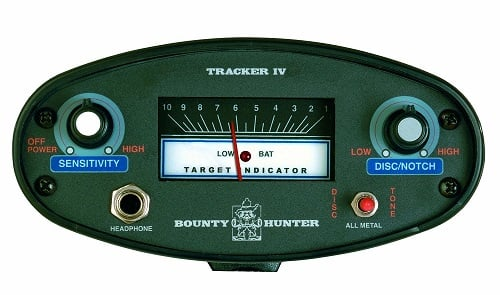 Bounty Hunter TK4 Tracker IV Metal Detector Display