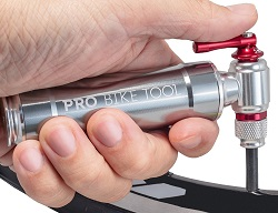 Pro Bike Tool CO2 Inflator with Cartridge Storage Canister