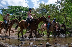 Horseback Waterfall Expedition, Zipline and Hot Springs Tour in Guanacaste