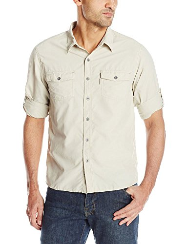 9c8f89377b499f This is a nylon button up Men s hiking shirt with sleeve retainers. Perfect  for that classic outdoor look and a great compliment to a canoeing or  fishing ...