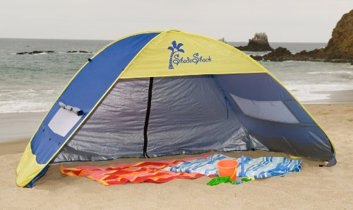 This beach shade tent is truly a pop up design. Once you remove it from its bag it literally pops up into the shape of a tent. : shade beach tent - memphite.com