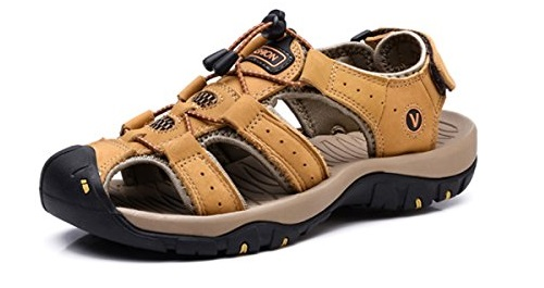 VENSHINE Mens Sports Sandals Summer Leather