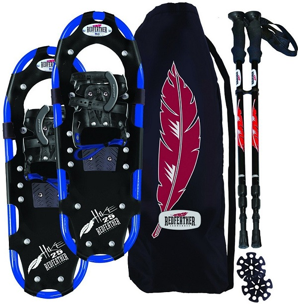 RedFeather Men's HIKE Recreational Series Snowshoe Kit