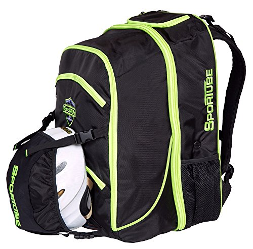 This boot bag is a different style in that its more of a backpack that  carries boots and unlike some other boot bags 9f4d410284505
