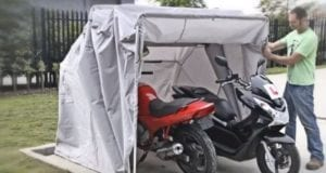 motorcycle tent storage enclosure