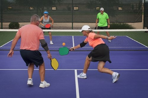 Pickleball Doubles Players