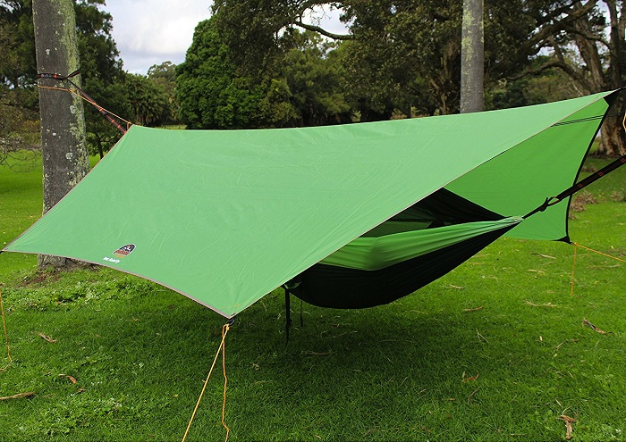 GoRoam Outdoors Camping Hammock with Mosquito Net and RainFly