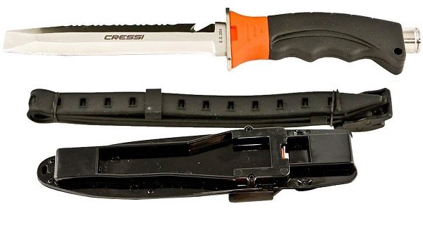 Cressi Borg Pointed Tip Dive Knife