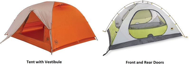 Doors and Vestibules on Backpacking Tents