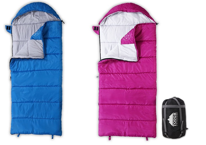 All Season Young Adventurer Hooded KIds Sleeping Bag