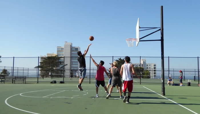Basketball Court at Condo