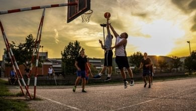 Outdoor Basketball Game