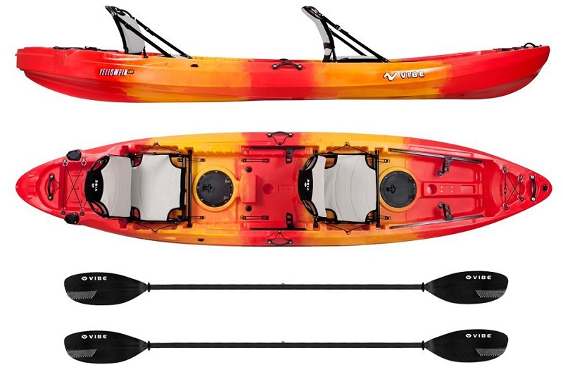 Vibe Kayaks Yellowfin 130T Tandem Sit On Top Kayak