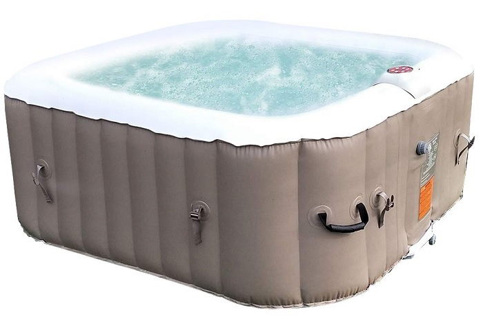 ALEKO HTIR4BRW Inflatable Hot Tub Spa