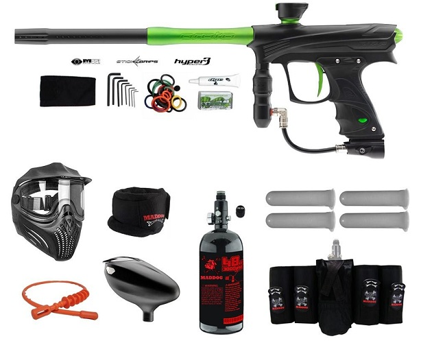 MAddog Proto Rize MaXXed Elite HPA Paintball Gun Package