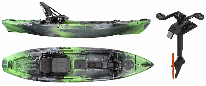 Wilderness Systems Radar 115 Pedal Drive Fishing Kayak
