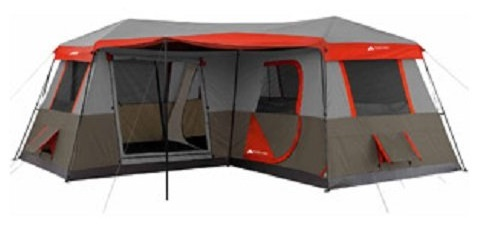 Ozark Trail 16x16-Feet 12-Person 3 Room Instant Cabin Tent