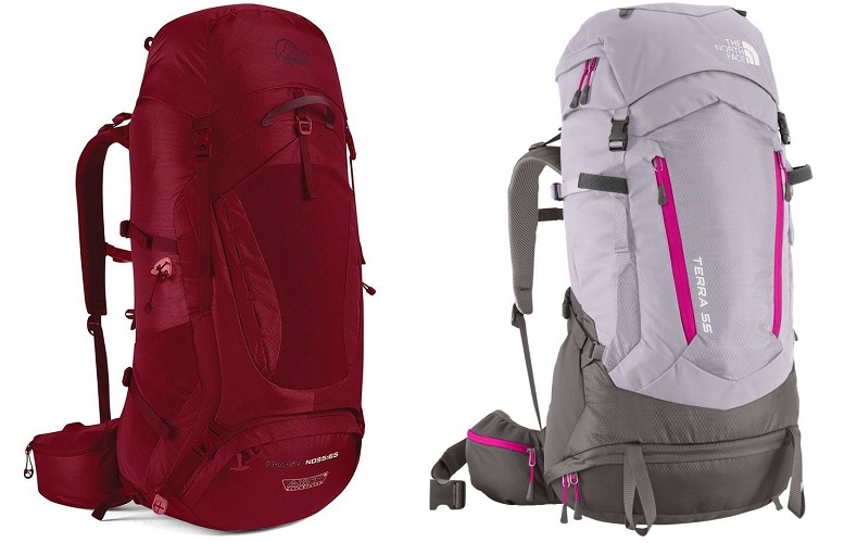 frameless womens hiking backpacks