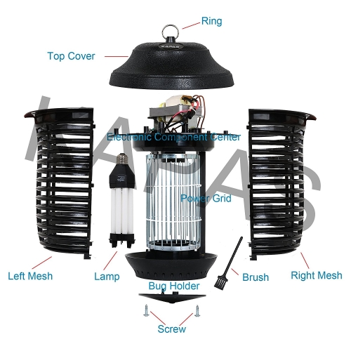 Electric-Kapas-Outdoor-Mosquitoes-Coverage-bulb-diagram