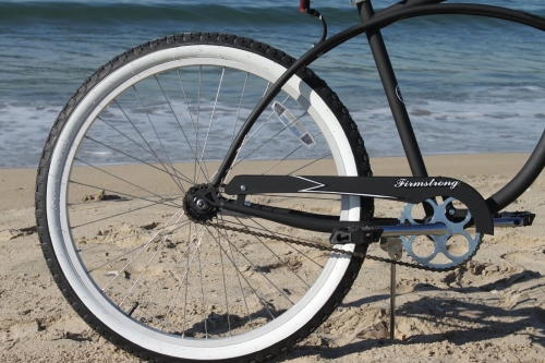 Firmstrong-Single-Beach Cruiser-Bicycle rear wheel view