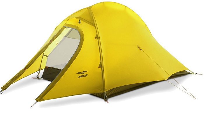 MIER Waterproof Backpacking Tent with Footprint