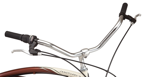 Schwinn-Sanctuary-7-Speed-Cruiser-Bicycle handlebars