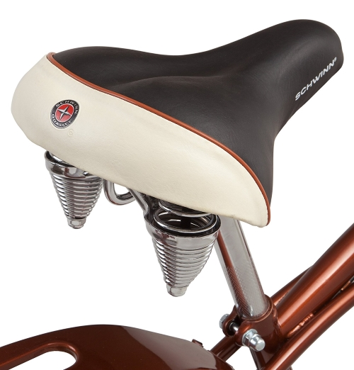 Schwinn-Sanctuary-7-Speed-Cruiser-Bicycle spring seat