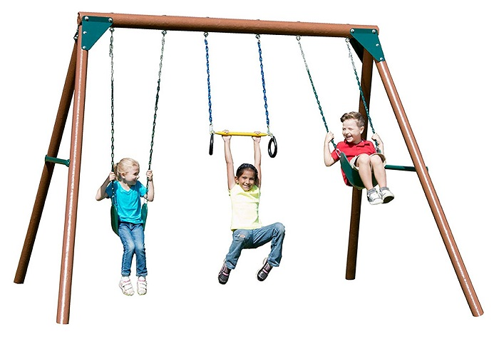 Swing-N-Slide Orbiter Complete Wooden Swing Set