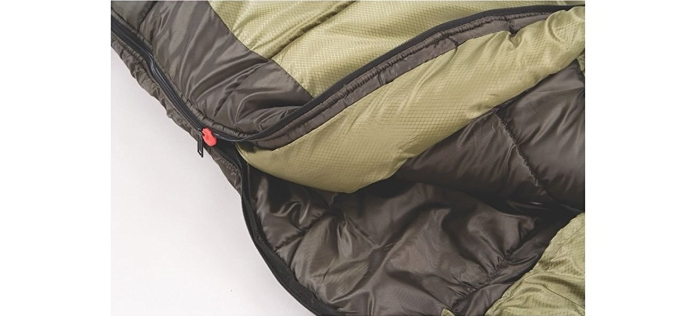 Coleman-North-Adult-Mummy-Sleeping bag zipper