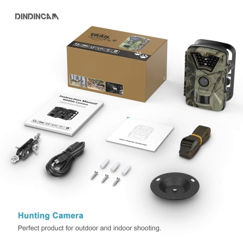 Infrared-Wildlife-Surveillance-Security-Upgraded trail camera box contents