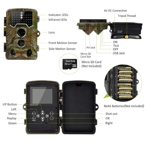 RainbowDay Deer Trail Camera specifications