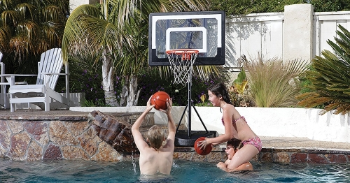 SKLZ-Basketball-System-Adjustable-Height portable hoop net rim backboard pool
