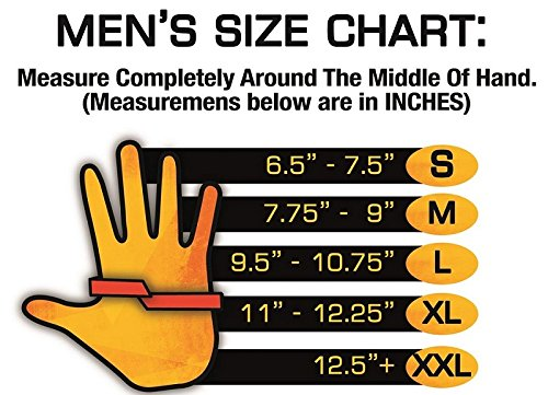 heated gloves battery size chart