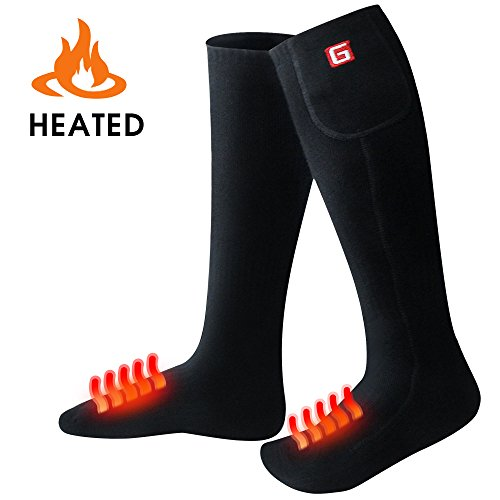 US Heated Socks Battery Powered Electric Winter Heat Mens Ladies Thermal
