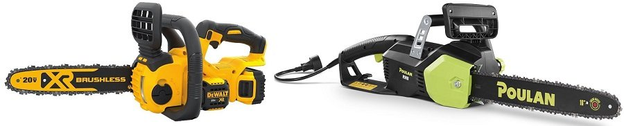 Electric Corded vs Battery Operated Chainsaws