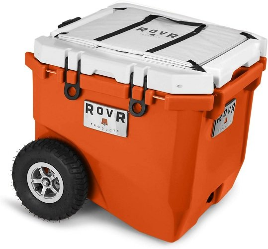 RovR Wheeled Camping Rolling Cooler with Wheels