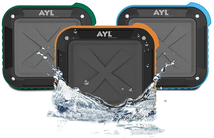 AYL Soundfit Portable Outdoor and Shower Bluetooth Speaker