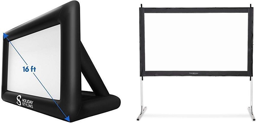 Inflatable vs Fixed Outdoor Projector Screens