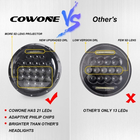 COWONE-Projector-Headlight-Wrangler-LED body